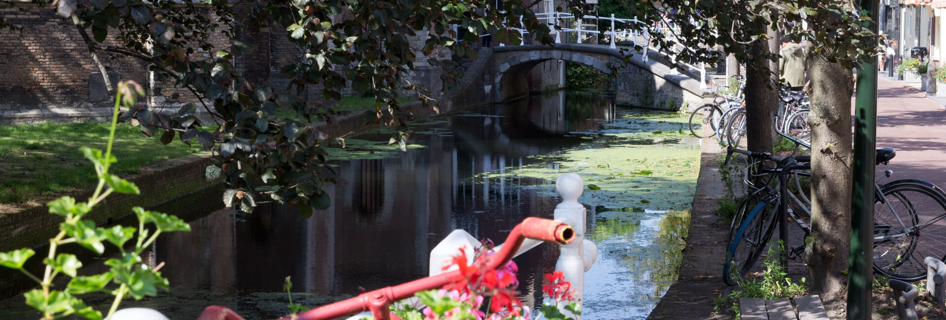 Canal in Delft near The New Church - Boat Puzzle Hunt