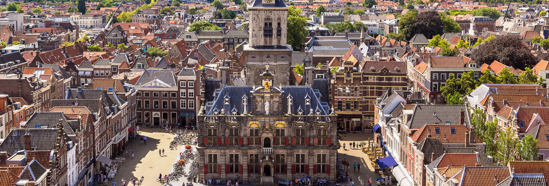 Town Hall from the tower of The New Church Delft - Explore Delft - Gasterij 't Karrewiel